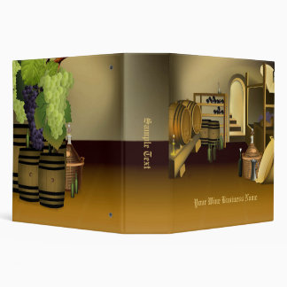 Wine Cellar Barrel Business Binder