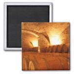Wine Cellar Barrels 2 Inch Square Magnet