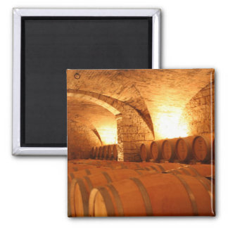 Wine Cellar Barrels Magnet