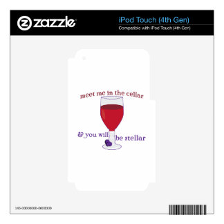 Wine Cellar Decal For iPod Touch 4G