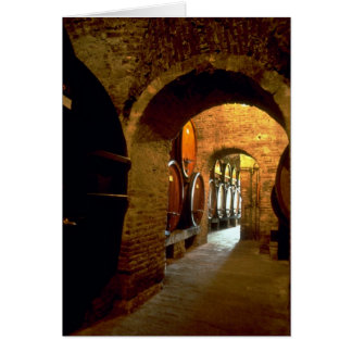 Wine cellar in Montepulciano, Tuscany, Italy Greeting Card