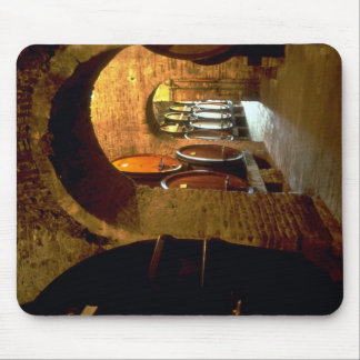 Wine cellar in Montepulciano, Tuscany, Italy Mouse Pad