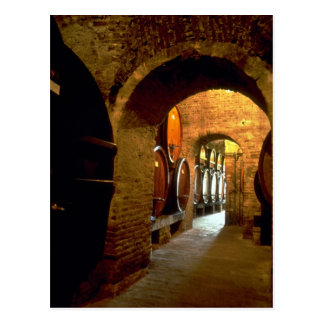 Wine cellar in Montepulciano, Tuscany, Italy Postcard
