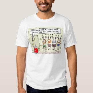 wine cellar king dungeon pardoned prisoners t-shirt