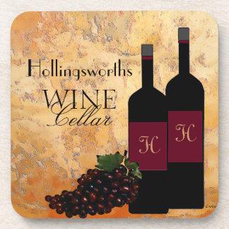 Wine Cellar Personalized Drink Coaster