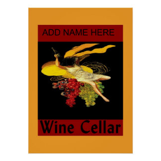 Wine Cellar Sign Blank, ADD NAME HERE