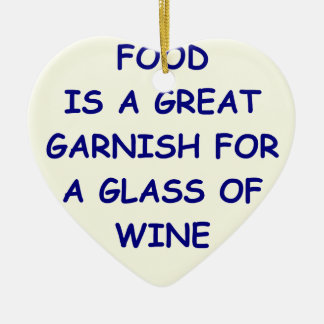 wine ceramic ornament