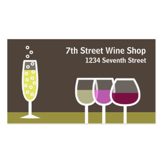 Wine & Champagne Double-Sided Standard Business Cards (Pack Of 100)