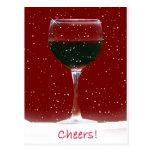 Wine Cheers Holiday Postcard