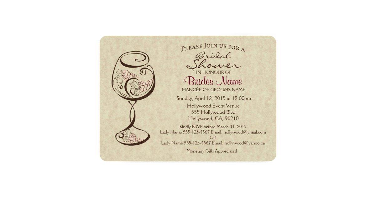 Wine & Cheese Bridal Shower Invitation | Zazzle.com