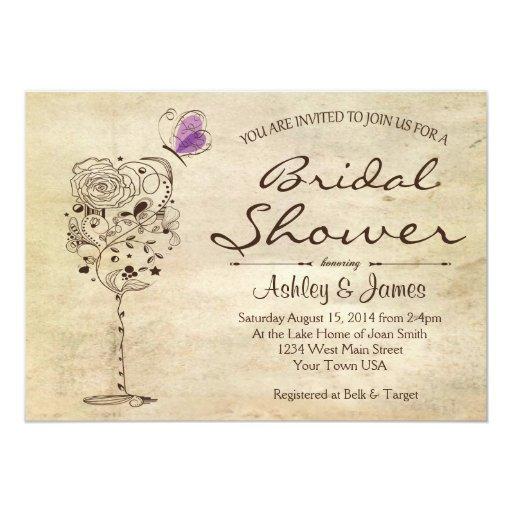 """Wine & Cheese Bridal Shower Invitation 5"""" X 7"""" Invitation Card"""