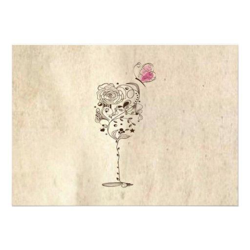 Wine & Cheese Bridal Shower Invitation (back side)