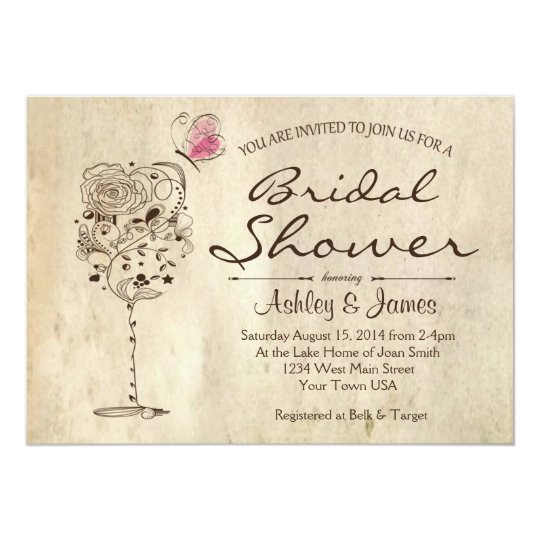 Wine Cheese Bridal Shower Invitation Zazzlecom