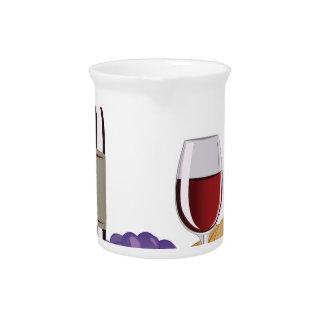 Wine & Cheese Drink Pitcher