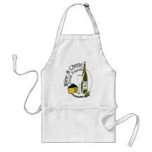 Wine Cheese Friends Adult Apron
