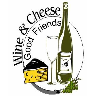 Wine Cheese Friends shirt