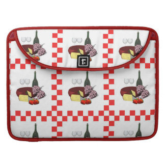 Wine Cheese Fruit Food Sleeve For MacBook Pro