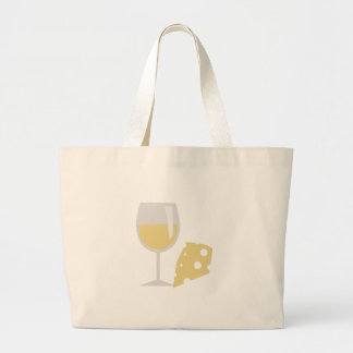 Wine & Cheese Large Tote Bag
