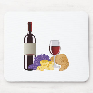 Wine & Cheese Mouse Pad
