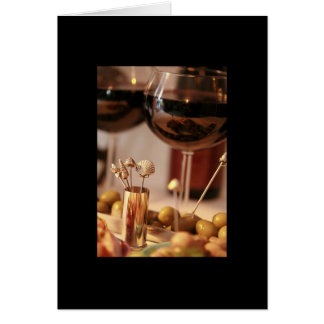 Wine & Cheese Party 2- Blank Card