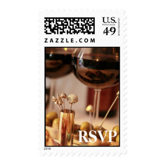 Wine & Cheese Party 2 - Postage Stamp