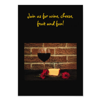 Wine & Cheese Party 5x7 Paper Invitation Card