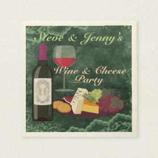 Wine & Cheese Party Napkin