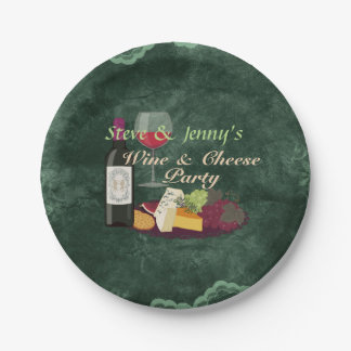 Wine & Cheese Party Paper Plate