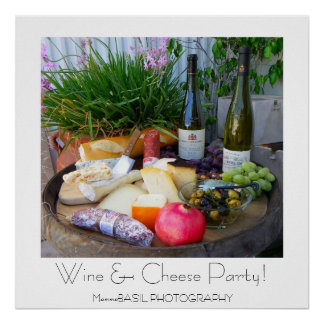 Wine Cheese Party Poster