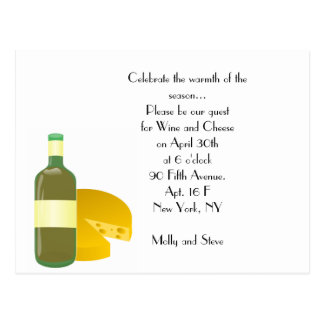 Wine & Cheese Postcard