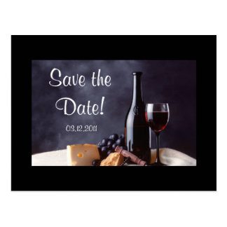 Wine_Cheese Save the Date! Postcard