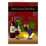 Wine Cheese Table Scene Card