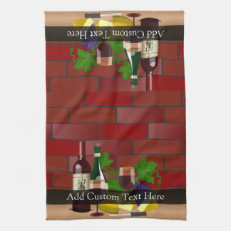 Wine Cheese Table Scene Hand Towels