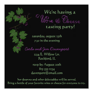 Wine & Cheese Tasting Party Invitation