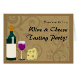 Wine & Cheese Tasting Party Invitation Cards