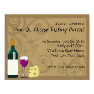 Wine & Cheese Tasting Party Invitations