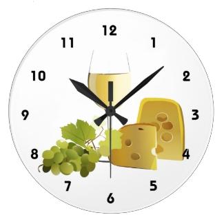Wine & Cheese Wall Clock