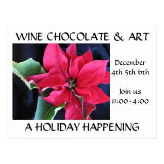 Wine Chocolate & Art Postcard