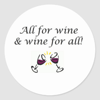 Wine! Classic Round Sticker