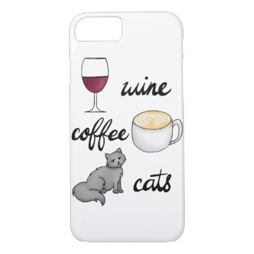 Coffee Themed Wine Coffee Cats Case