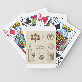 Wine Collection Bicycle Playing Cards
