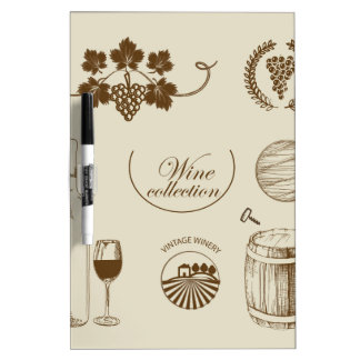 Wine Collection Dry-Erase Whiteboard