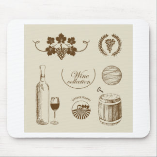 Wine Collection Mouse Pad