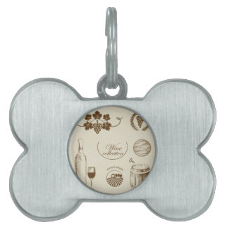 Wine Collection Pet ID Tag