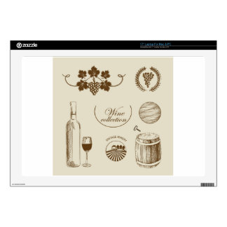 Wine Collection Laptop Decals