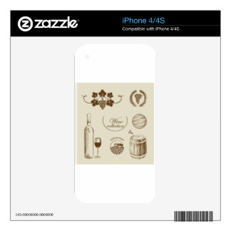 Wine Collection iPhone 4S Decal