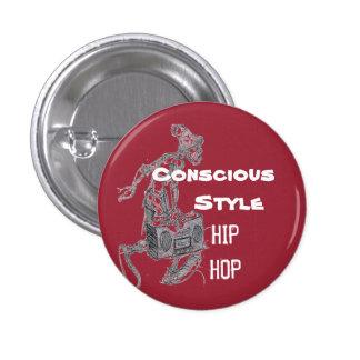 Wine color Conscious Style Hip Hop button