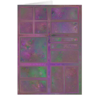 Wine Colored Window Abstract Card