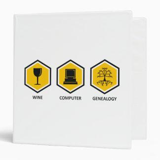 Wine Computer Genealogy Binders