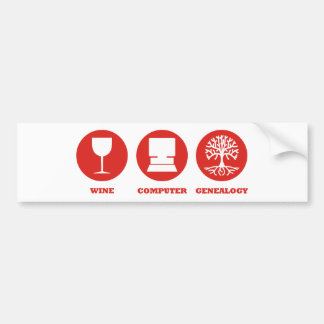 Wine Computer Genealogy Bumper Sticker